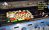 BBQ-Grill-Mat-Set-of-2-Mats-As-Seen-On-TV-A-Miracle-Barbecue-and-Baking-Mat-Nonstick-Accessory-for-Outdoor-Barbecue-and-Camping-Cut-to-Fit-Reusable-for-Years-and-Easy-to-Wash-Dishwasher-Safe-PFOA-Free