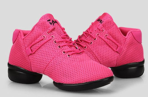 Mesh Dancewear Sneakers Practice Pink Split Dance Jazz Breathable Shoes VECJUNIA Sole Ladies 6ZqzZE