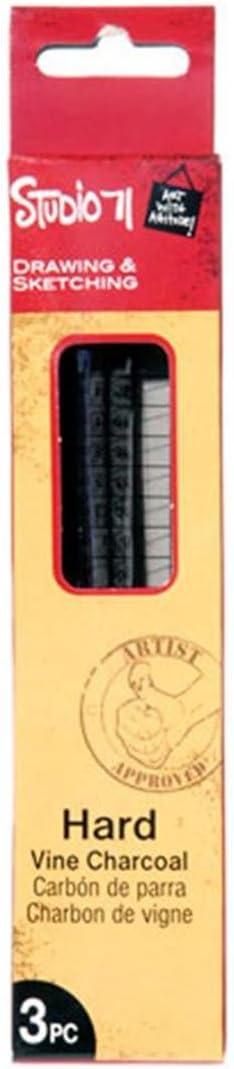 Multicolor Studio 71 Thin Hard Vine Charcoal 3PC