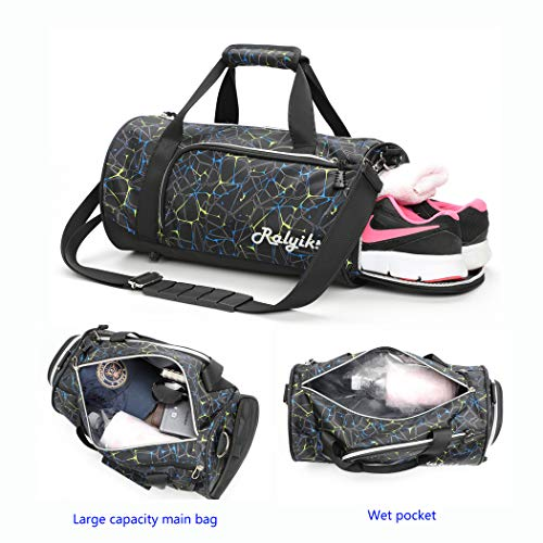 c1230b2237 Sports Duffels Waterproof Gym Bag With Shoes Compartment