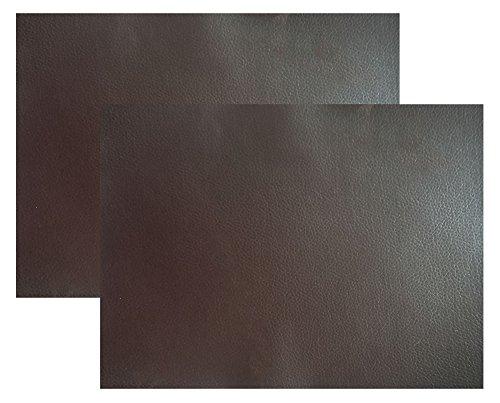 Ancefine 2 Pieces Self-adhesive Leather Repair Patch,Leather Patch for First Aid Patch for Sofa Car Seat Handbag (Dark Brown) (Self Adhesive Material)