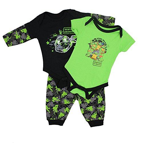 Real Essentials Nickolodeon Baby Boys Full 3 Piece Set - Ninja Turtles, 0-3 M