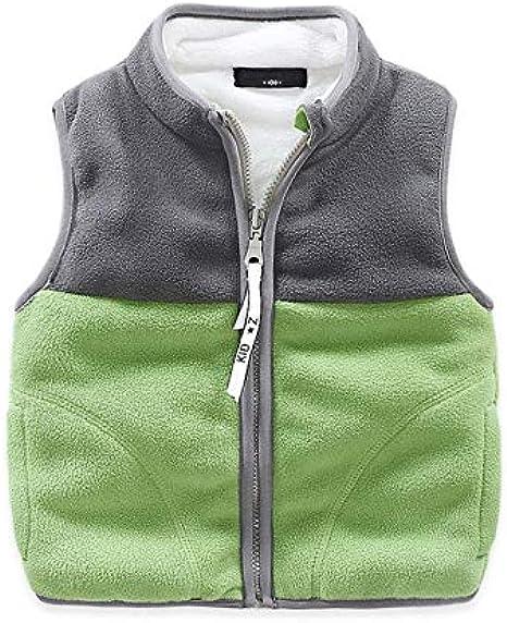 Motteecity Boys Clothes Fall Winter Warm Solid Zipper Fleece Hoody