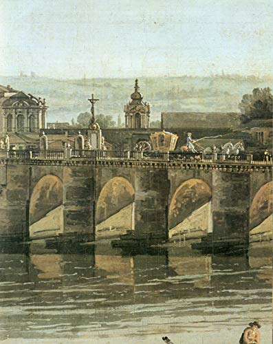 - Home Comforts Peel-n-Stick Poster of Canaletto (II) - The Augustus Bridge with The Crucifix and The Crown Gate of The Zwinger Vivid Imagery Poster 24 x 16 Adhesive Sticker Poster Print