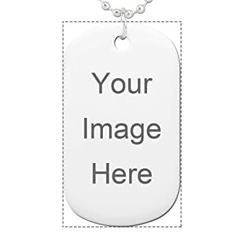 941e44ed7db4 Custom Personalized Ceramic Rectangle Pet Tag Design Your Own Print Dog or  Cat ID Tag With Message Or Photo: Amazon.co.uk: Pet Supplies