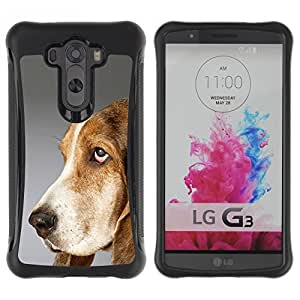 Suave TPU GEL Carcasa Funda Silicona Blando Estuche Caso de protección (para) LG G3 / CECELL Phone case / / Pointer Dog English Foxhound /
