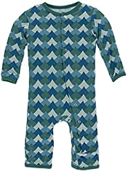 Kic Kee Pants Baby Boys' Print Fitted Coverall Prd-kpca213