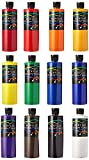 Chroma 50500 Acrylic Essential Set, 1 pint Bottle, Assorted Vibrant Colors, 9'' Height, 7.9'' Width, 10.1'' Length (Pack of 12)