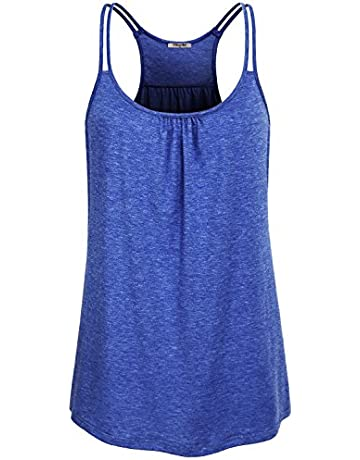 2d79f38927979 Hibelle Womens Scoop Neck Cute Racerback Yoga Workout Tank Top