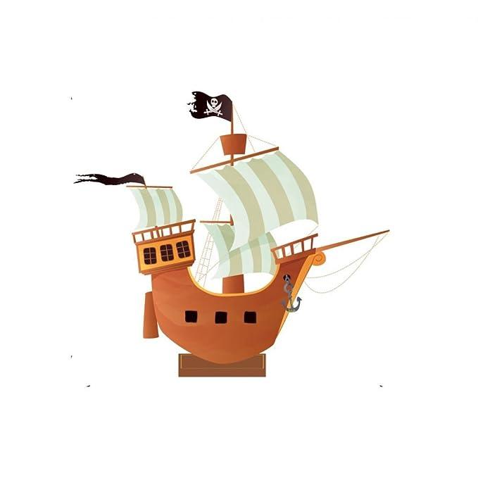 Centro de Mesa Barco Pirata 25 x 29 cm: Amazon.es: Hogar