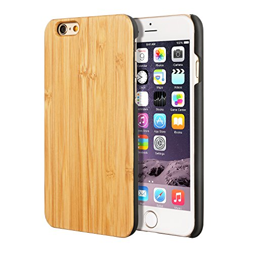 iPhone 6S Case,iPhone 6 Case, Imikoko™ Protective Case Unique Handmade Natural Wood Slim Hard Cover Wooden Case for iPhone 6S / Apple iPhone 6 4.7 Inc…