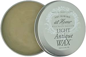 Light Antique Wax | 3.5 oz | Antique Wax Protective Finish Seals and Conditions Chalk Paint Finish Furniture, Cabinet, Metal, and Decor Projects | Amy Howard At Home