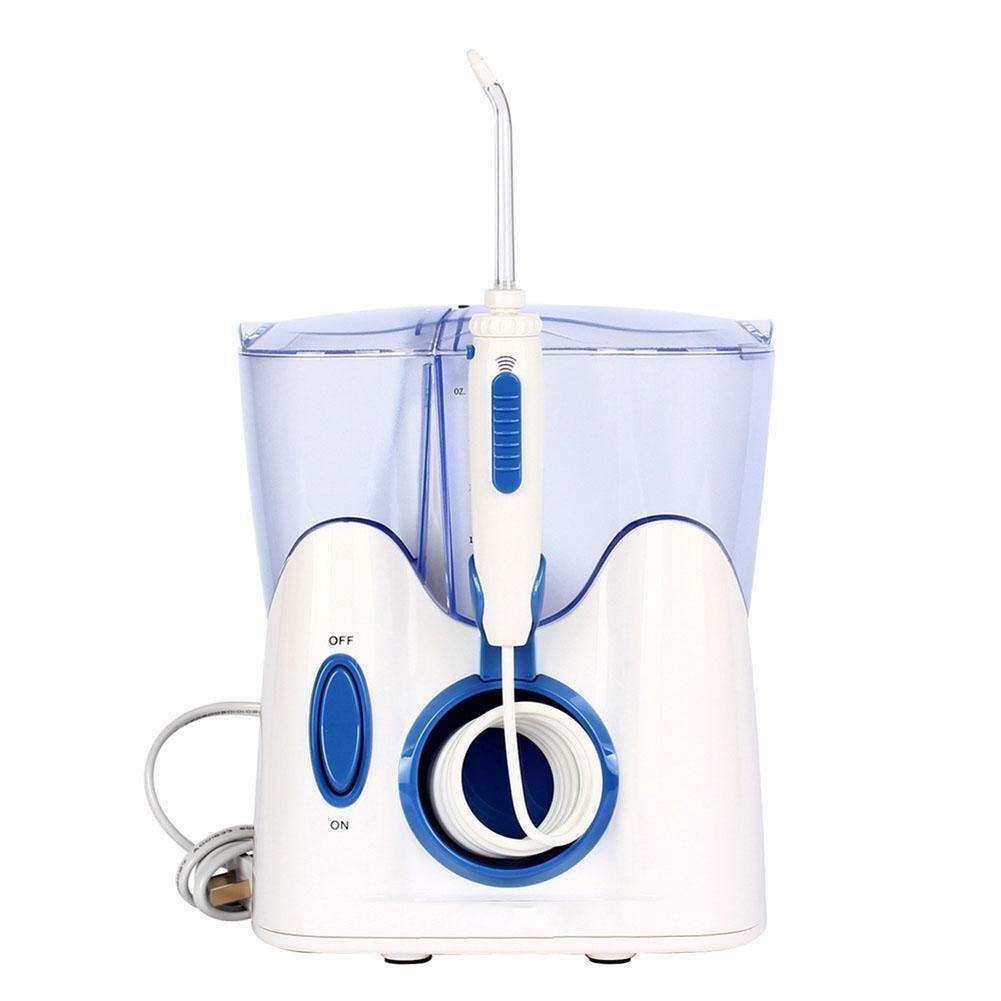 Munddusche Wasserflosser für Zähne, professionelle Zahnpflege Zahnreiniger Wasserfalle für Familie Haushalt Verwendung mit 12 Düsen