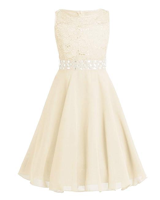 Kaufen Sie Authentic klare Textur herausragende Eigenschaften iiniim Mädchen Kleid Prinzessin Kleid Spitze Chiffon Kleid Festlich  Blumenmädchenkleid Hochzeit Abendkleid Gr.92-164
