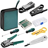 Neewer Internet Network Cable Tester Wire Crimp LAN RJ45 RJ11 CAT5 Analyzer Tool Kit