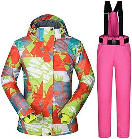 DIU Traje de esquí Caliente Chaquetas y Pantalones de esquí ...