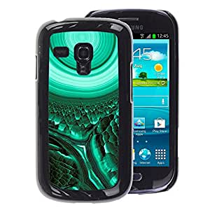 A-type Arte & diseño plástico duro Fundas Cover Cubre Hard Case Cover para Samsung Galaxy S3 MINI 8190 (NOT S3) (Cell Biology Green Teal Mysterious)