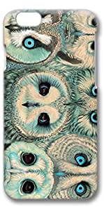 iPhone 6 Case, Personalized Design Protective Covers for iPhone 6(4.7 inch) PC 3D Case - Owls Heads