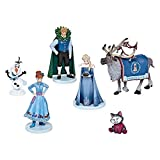 Disney Collection Olaf's Frozen Adventure 6 Piece Figurine Playset Olaf, Sven, Elsa, Anna, Kristoff, Cat Figure Play Set or Cake Topper