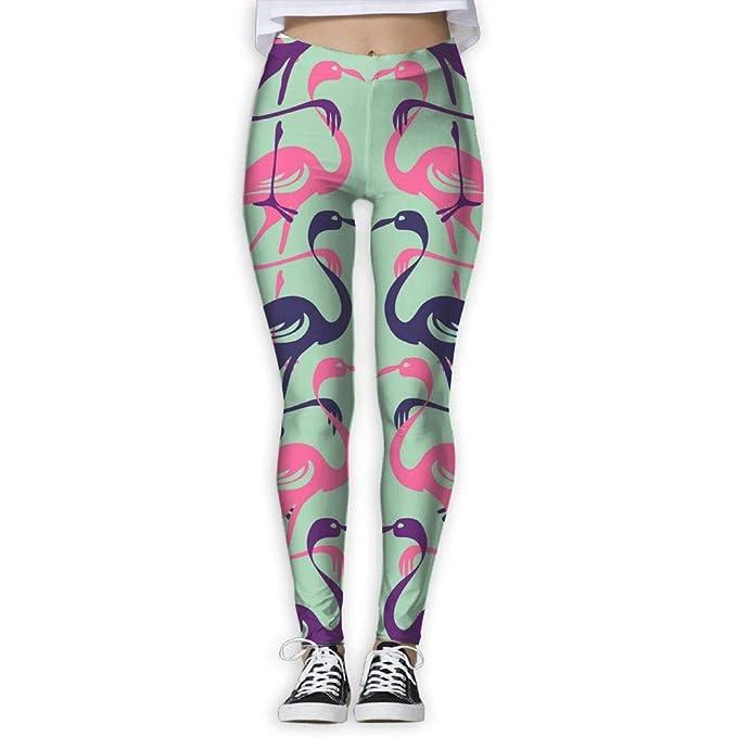 6dd9321eeff3a Amazon.com: Flamingo Vector Image High Waist Out Pocket Yoga Pants Tummy  Control Workout Running Stretch Yoga Leggings: Clothing