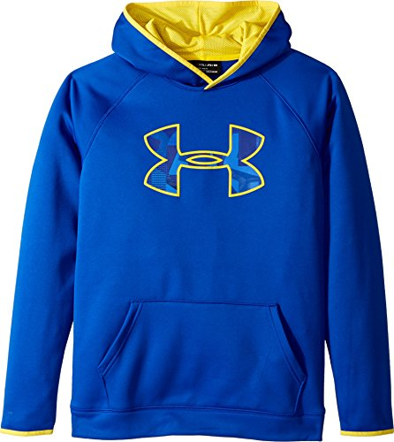 Under Armour Kids Boy's Armour Fleece Big Logo Hoodie (Big Kids) Royal/Taxi/Taxi Medium (Big Logo Fleece Hoodie)