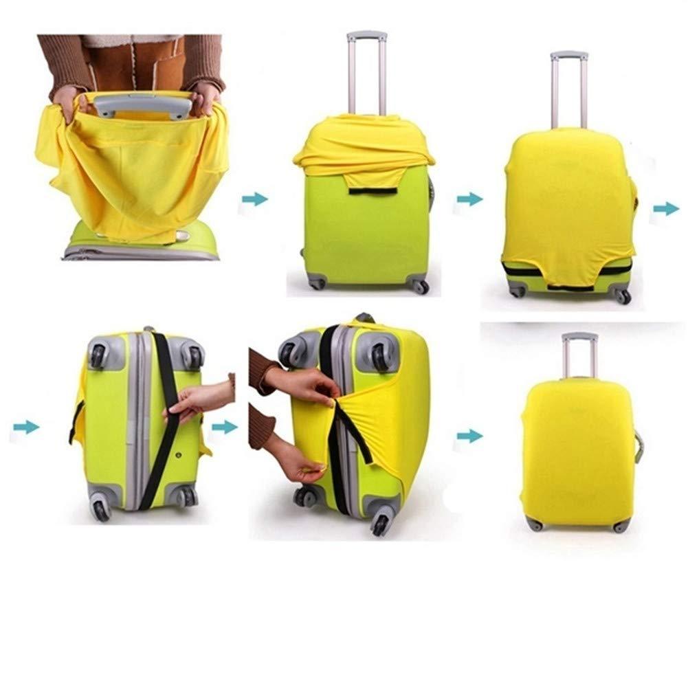 Yellow Small MNEFEL 1/pz Bagaglio di Viaggio Valigia Protettiva Copre 18/a 76,2/cm e Bagagli