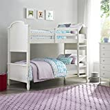 cool bunk beds Dorel Living Vivienne Twin over Twin Bunk Bed, White