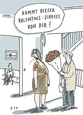 Postkarte A6 68110 Valentins Scheiss Von Inkognito Kunstler Til Mette Satire Cartoons Liebe Romantik Amazon De Burobedarf Schreibwaren