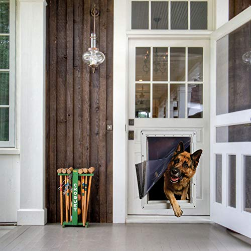 Ideal Pet Products Designer Series Ruff-Weather Pet Door with Telescoping Frame, Super Large, 15