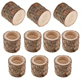 Fityle 10x Natural Tree Branch Stump Tea Light Holder Tealight Candle Holder Candleholder for Home Wedding Table Decoration