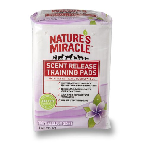 Nature's Miracle Scent Release Training Pads, Tropical Bloom Scent, 10 Count, My Pet Supplies
