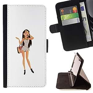 Momo Phone Case / Flip Funda de Cuero Case Cover - Brunette del polluelo;;;;;;;; - Motorola Moto E ( 1st Generation )