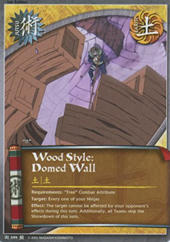 Naruto - Wood Style: Domed Wall 599 - Foretold Prophecy - Common - 1st - 599 Wood