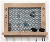 Firwood Forest Wall Mounted Jewelry Organizer With Shelf for Necklaces Earrings Bracelets