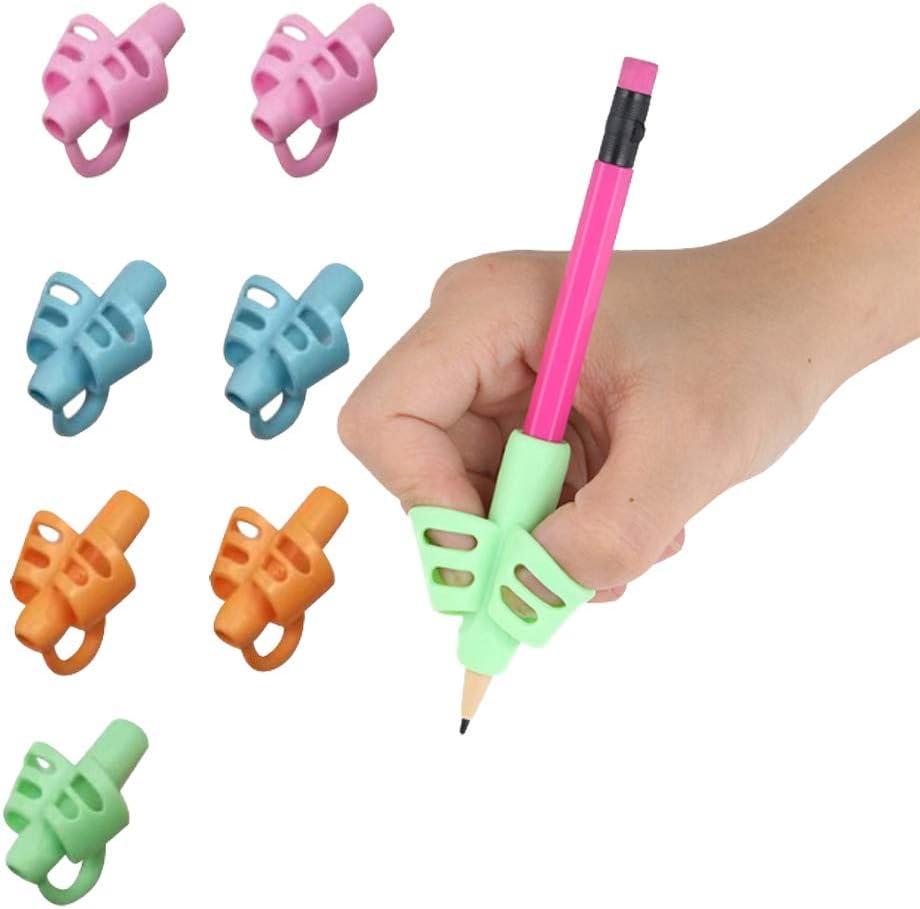Pack de 8 agarres de silicona para lápiz, ergonómicos