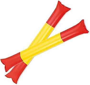 FUN FAN LINE - Pack de 5 Pares de aplaudidores hinchables ruidosos de plástico. Artículos de Fiesta y animación, Ideal para Eventos Deportivos. (Diseño Bandera españa): Amazon.es: Juguetes y juegos