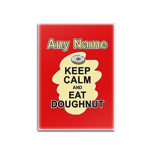 UNIGIFT Imán para Nevera con Texto en inglés Keep Calm Eat ...