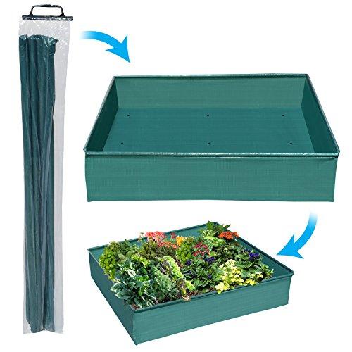 BenefitUSA 39 x39 Fabric Planting Trough Basin Pot Flower Herb Vegetable Tub Raised Planter
