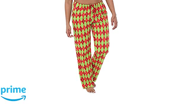 Addison Meadow Pajama Pants for Women Cotton Flannel, 2 pk, RedGreen