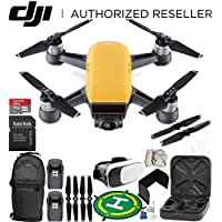 DJI Spark Portable Mini Drone Quadcopter (Sunrise Yellow) EVERYTHING YOU NEED Essential Bundle