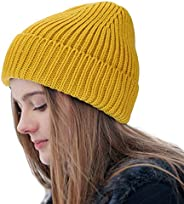Feximzl Good Threads Beanie Hat Warm Knit Hat Thick Knit Skull Cap for Men Women