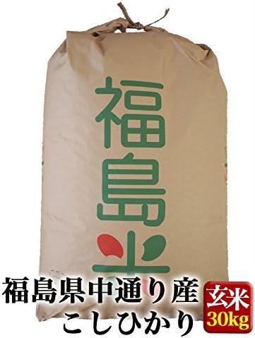 福島県中通り産 玄米 コシヒカリ 30kg 令和元年産