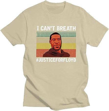 Jiasi No Puedo Respirar La Camisa, George Freud para La Camiseta De Manga Corta De Algodón Impresa Protesta De Los Hombres, (S-3XL),Caqui,L: Amazon.es: Hogar