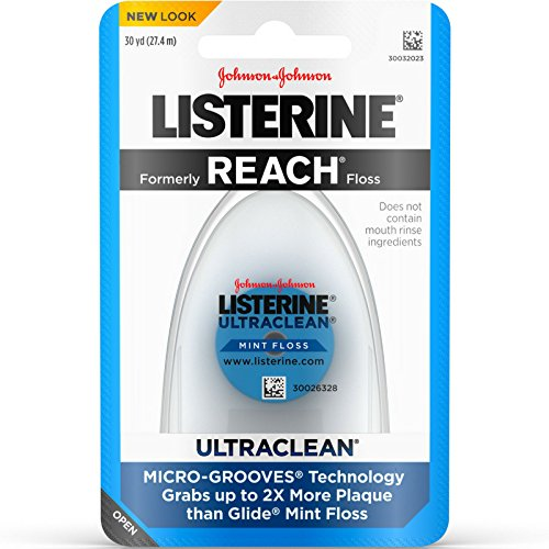 Listerine Ultraclean Dental Floss, Oral Care, Mint-Flavored, 30 Count, Pack of 6
