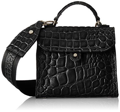 Liebeskind Berlin Glendale Itemcr, Women's Cross-Body Bag, Schwarz (Oil Black), 6x23x19 cm (wxhxd)