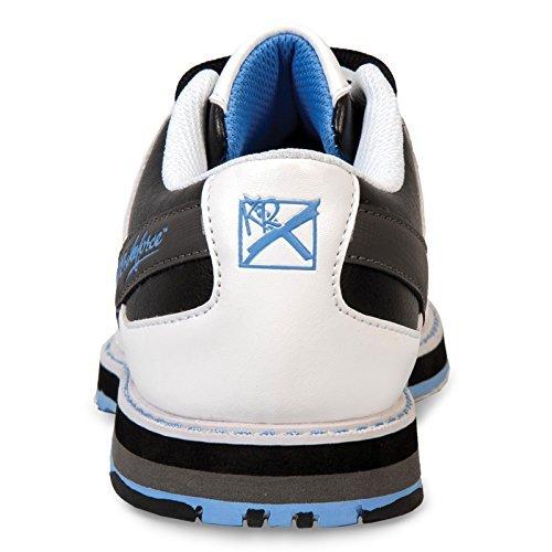 KR Strikeforce L-053-060 Mist Bowling Shoes, White/Black/Blue, Size 6