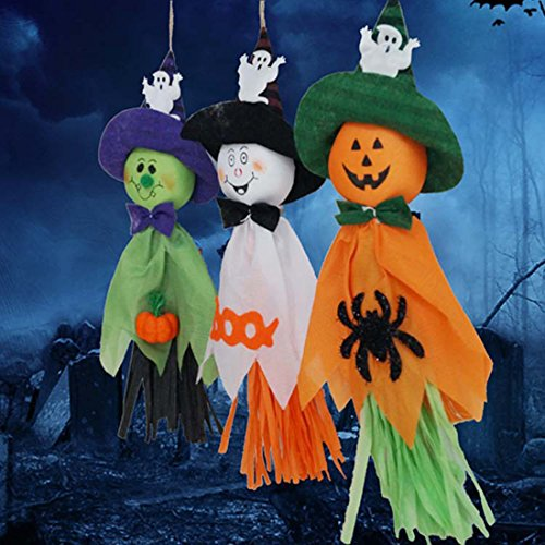 Super Cheap Halloween Decorations (Halloween Decoration Hanging Ghost Windsock for Patio Lawn Garden Party and Holiday Decorations Themed - 3 Pack)