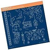 Groovi Claritystamp ~ Tina's Christmas Presents & Holly A4 Sq, GRO41008