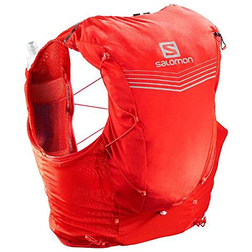 Salomon Mens Advanced Skin 12 Set Running Vest, Fiery Red, X-Small