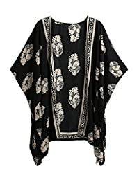 Romacci Women Bikini Cover Up Summer Kimono Cardigan Beachwear Floral Boho Blouse Top